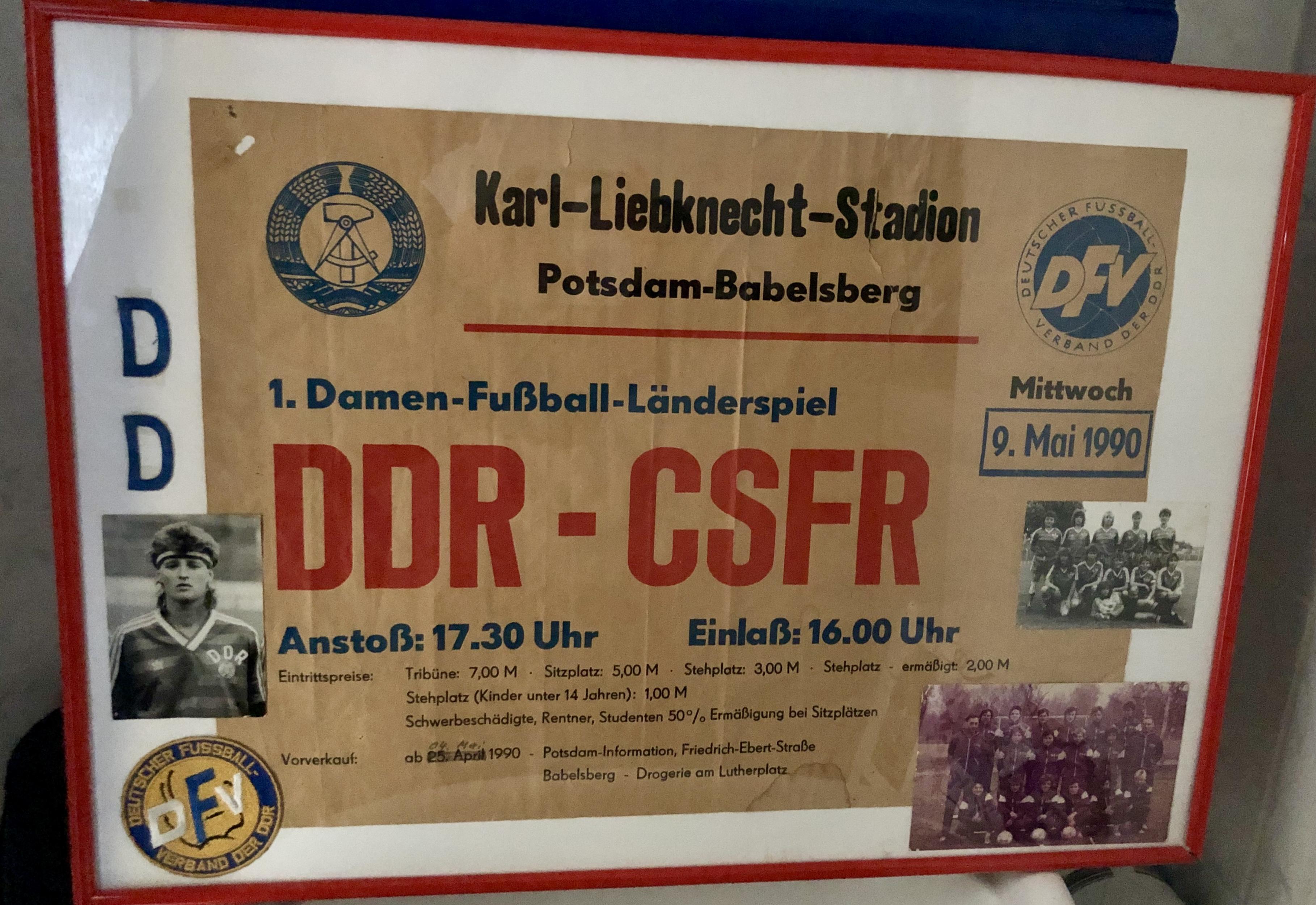 Spielplakat zum einzigen Länderspiel der DDR