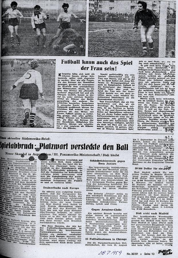 Fußballwoche vom 28. Juli 1959